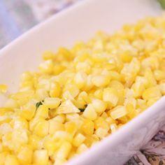 Milho na manteiga com sálvia
