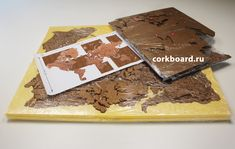 World Cork Map. 10 mm cork on adhesive film 3M It easy to place this cork map on the wall. Cork map has side special sticky layer 3M. Cork map consist of 70 cork stickers(continents and islands). Set cardboard templates for correct installation are applied. Each element and its place in the template are numbered. The size of the parcel: 1050*850*100 mm Cork World Map, Cork Map, Home Wall Decor, Continents, Islands, Adhesive, How To Apply, Templates, Stickers