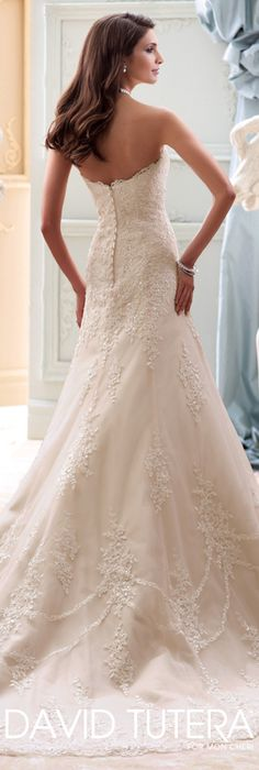 The David Tutera for Mon Cheri Spring 2015 Wedding Dress Collection - Style No. 115245 Indiana   davidtuteraformoncheri.com  #weddingdresses