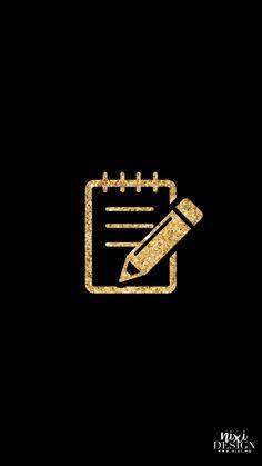 Iphone Wallpaper App, Aesthetic Iphone Wallpaper, Black And Gold Aesthetic, Gold App, Iphone Layout, Ios App Icon, Iphone Design, App Icon Design, App Logo