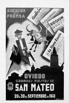 Fiestas de San Mateo en Oviedo, 1940