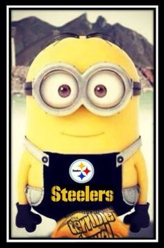 For my mom. even minions are steelers fans :) But Football, Pittsburgh Steelers Football, Pittsburgh Sports, Pittsburgh Penguins, Falcons Football, Football Baby, Here We Go Steelers, Steelers Stuff, Steelers Fans
