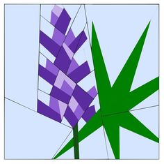 (7) Name: 'Quilting : Lupine Paper Pieced Pattern