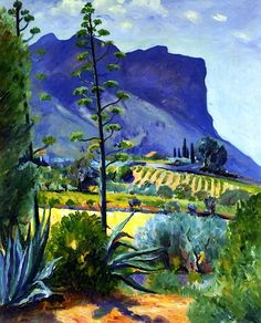 The Aloes in Bloom, Cassis, Henri Charles Manguin (1874-1949), considered one of the founding fathers of Fauvism. Fauvism Art, Art Paysage, Raoul Dufy, André Derain, Henri Matisse, Landscape Art, Landscape Paintings, Georges Braque, Modern Artists