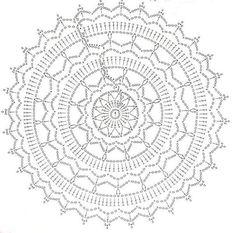 Mandala via fb dreamcatcher crochet, crochet mandalas, rug yarn, doily rug, Free Crochet Doily Patterns, Crochet Doily Diagram, Crochet Pillow Pattern, Crochet Motifs, Crochet Doilies, Crochet Stitches, Free Pattern, Doily Rug, Mandala Rug