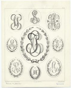 [Victorian monograms.] - ID: 819988 - NYPL Digital Gallery