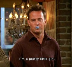 And the one with the beautiful blue lips. | Chandler Bing's 19 Most Heinous Outfits  I must say my favorite Friend