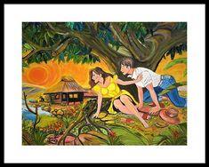 Dancing Sun Framed Print by Anna Baker Philippine Art, Hanging Wire, Art Paintings, Fine Art America, Anna, Framed Prints, Painting Art, Art Drawings