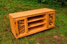 Rustic Wood Media TV Console Sideboard Table by BlueRidgeRustics