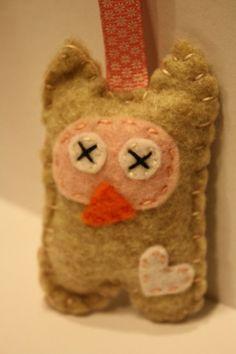 Eco fi felt Owl Keychain by inajuicebox on Etsy, $5.00