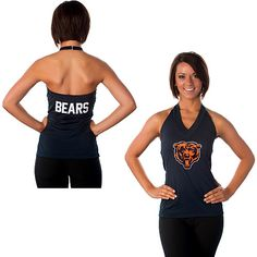 Women's All Sports Couture Chicago Bears Blown Coverage Halter Top - NFLShop.com