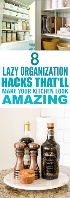 These 8 Easy Kitchen Organization Hacks are THE BEST! I'm so happy I found this AMAZING post! My kitchen is going to function so much better! These really are super smart tips! So posting for later!