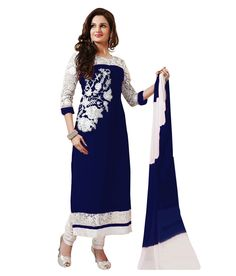 Shop Smile Womens Georgette Straight Salwar Suit by Ustaad Sales online. Largest collection of Latest Salwar Suits online. ✻ 100% Genuine Products ✻ Easy Returns ✻ Timely Delivery