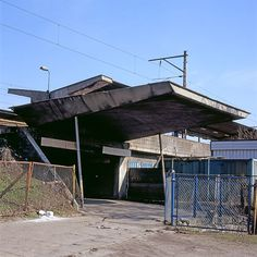 A subjective atlas of modern architecture: Warsaw Eastern Train Station upper entrance,...