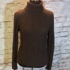 DARK BROWN TURTLENECK SWEATER Cozy and warm sweater in gently used condition.. Has some minor pilling which easily be removed Sweaters Cowl & Turtlenecks