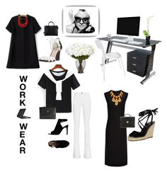 """""""Work Wear"""" by kotnourka ❤ liked on Polyvore featuring Frame Denim, Tory Burch, Dune, Joseph, Speck, Eichholtz, Nearly Natural, Alisha.D, Chanel and Givenchy"""