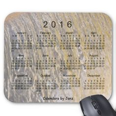 2016 Waterfall Calendar by Janz Mouse Pad