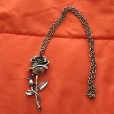 Gun metal rose necklace ( matches ring/ earrings) Gun metal rose necklace ( matches ring/ earrings) in another listing Jewelry Rings