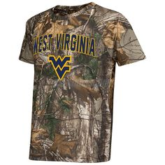 Colosseum WVU Youth Buckshot Realtree Performance Tee