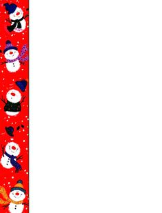 Bordes Decorativos: Bordes decorativos de Navidad para imprimir