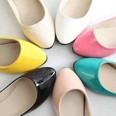 20 2015夏秋平底平跟低帮浅口糖果色小皮鞋女鞋子黑色白色工作鞋单鞋-淘宝网