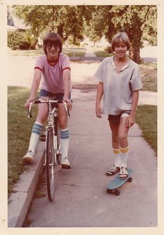 1970's Style. Remember the day when all our guy friends wore socks like these? And I loved the long shaggy hair!