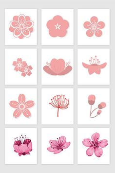 Peach cherry blossom vector material Elements ~ END PİN Cherry Blossom Drawing, Cherry Blossom Vector, Cherry Blossom Nails, Sakura Cherry Blossom, Japanese Patterns, Japanese Art, Peach Blossoms, Chinese Art, Flower Tattoos