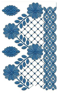 Folk Embroidery Patterns New Border Embroidery Design - Crewel Embroidery, Embroidery Applique, Beaded Embroidery, Embroidery Patterns, Indian Embroidery, Applique Dress, Border Embroidery Designs, Free Machine Embroidery Designs, Bordado Popular