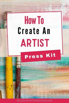 How To Create An Artist Press Kit - Discover how easy it is to put an artist press kit together so you can be prepared for when someone from the media, a blog, art gallery or art agent asks to learn more about you. #nevuefineartmarketing #artistpresskit #pressrelease #artbusiness #artmarketing #sellingart via @davenevue