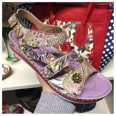 e9c8413d1e4 Bruel Purple Embossed Sandals Laura Vita Violet Brand Name Shoes