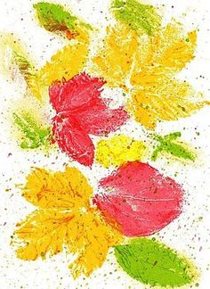 peintures à la feuille d'automne