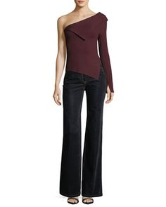 Demitria+2+Flared-Leg+Velvet+Denim+Jeans+and+Matching+Items+by+Theory+at+Neiman+Marcus.