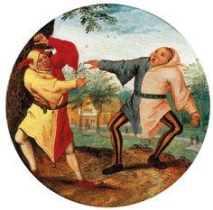 Pieter Bruegel le Jeune, Les Deux Bouffons, Paris. © Galerie de Jonckeere.
