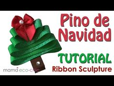 These creations are great attached to your hair accessories such as hair clips, headbands or diadems. Origami Ribbon, Ribbon Sculpture, Diy Christmas Tree, Hair Bows, Youtube, Chic, Create, Videos, Hair