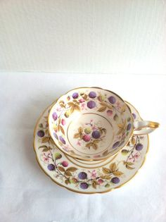 Vintage English Royal Stafford Golden Bramble by MariasFarmhouse, $75.00
