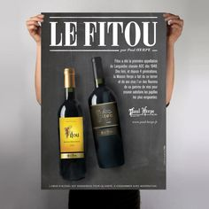 """Wine poster """"Paul Herpe / Fitou"""" by L_st"""