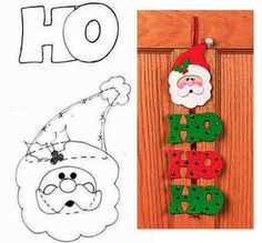 Colgantes navideños hechos con foami o goma eva - Dale Detalles Christmas Mood, Felt Christmas, Christmas Crafts, Christmas Decorations, Christmas Ornaments, Felt Crafts, Diy And Crafts, Crafts For Kids, Pumpkin Coloring Pages