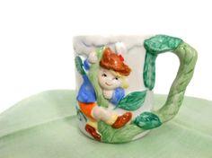 Jack and The Beanstalk  Child's Mug  Ceramic  by My3LuvBugsVintage