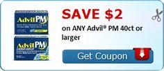 SAVE $2.00 on ANY Advil® PM 40ct or larger