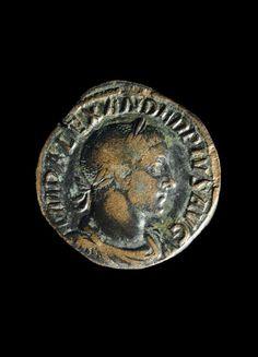 Bronze sestertius of Alexander Severus. Roman.   Museo Arqueológico Municipal de Jerez de la Frontera