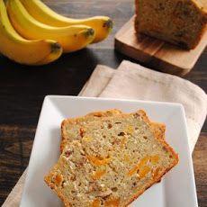 Tropical Mango Banana Bourbon Bread