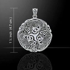 Norse Celtic Triskele Wolf energy amulet