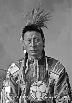 Blackfeet Chief Kat-o-capee 1900