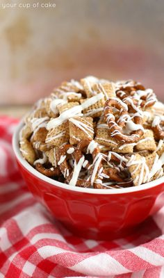 White Chocolate Churro Chex Mix and 2 KitchenAid Giveaways! - Your Cup of Cake
