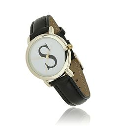 Gina Tricot - S initial watch Black/white