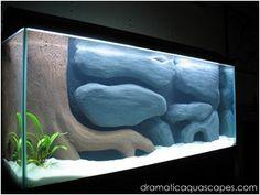 DIY aquarium background- submersed tree and rocks