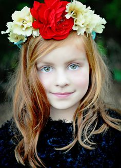 Red Turquoise flower crown Free SpiritFashion by AmoreBride