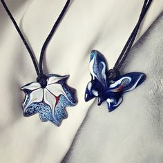 "Let this lovely butterfly land on your neck.  The ""Papillon Collection"" is Hyccara's most youthful collection, inspired by the beauty of spring and nature. Choose one in your favorite color and wear this sweet butterfly necklace as a celebration of femininity.     MADE IN FRANCE  Brand : Hyccara Color : deep blue, white, black Pendant size : 4cm x 3.8cm Materials : Enamel (crystal powder), copper, metal clasp, nylon Certificate of Authenticity included  Artisan made Copper Metal, Butterfly Necklace, Femininity, Deep Blue, Authenticity, Certificate, Favorite Color, Celebration, Powder"
