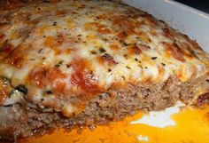 This is an Absolutely Delicious Italian Meatloaf that combines Ground Beef and Ground Sausage. ground mild Italian sausage 1 small onion, finely chopped C. chopped bell pepper (I used orange, it Ww Recipes, Italian Recipes, Cooking Recipes, Healthy Recipes, Delicious Recipes, Simply Recipes, Cooking Chef, Recipies, Cooking Ideas