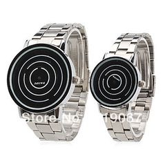 Free Shipping Couple Style Unisex Steel Analog Quartz Wrist Watch (Silver) on AliExpress.com. 10% off $9.43